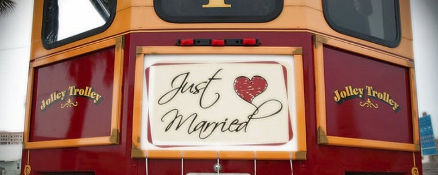 Beach Wedding Jolley Trolley
