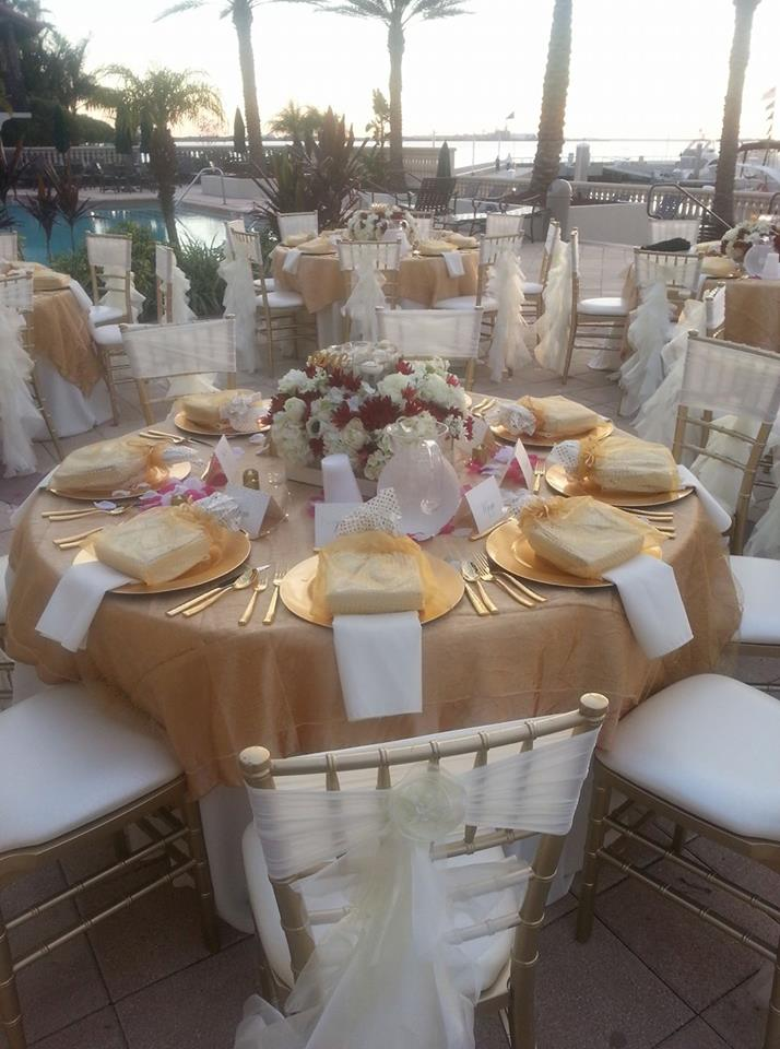 Tampa Bay Upscale Wedding Reception